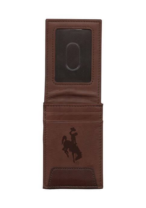 RICO NCAA Wyoming University Cowboys Premium Leather Wallet