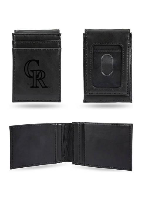 RICO MLB Colorado Rockies Laser Engraved Wallet