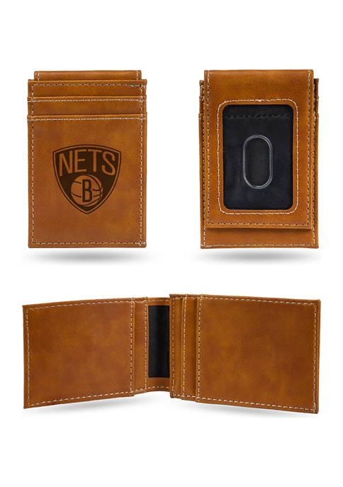 NBA Brooklyn Nets Laser Engraved Wallet