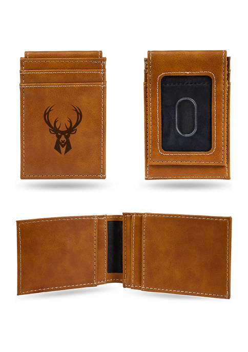 NBA MIlwaukee Bucks Laser Engraved Wallet