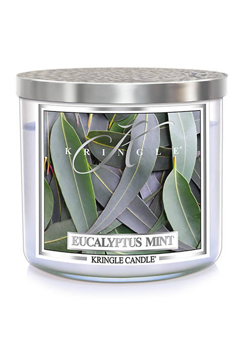 Kringle Eucalyptus Mint 3-Wick Soy 14.5-Ounce Candle