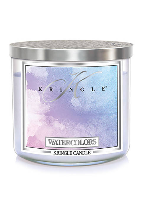 Watercolors 3 Wick Candle