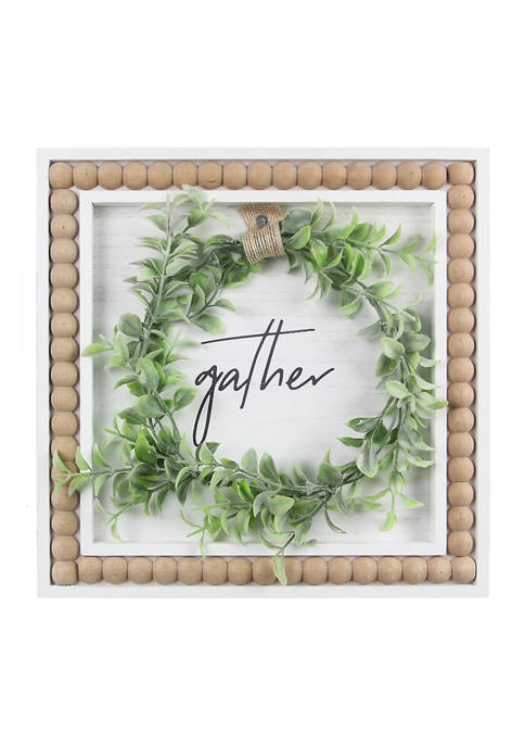 Gather Beaded Sign