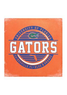 Image One Ncaa Florida Gators 9X9 Canvas Wall Art Striped Stamp