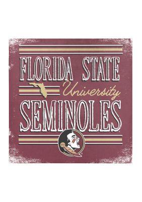 Image One Ncaa Florida State Seminoles 9X9 Canvas Wall Art School Stripes