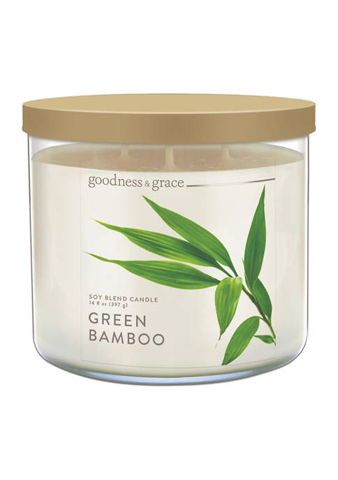 goodness & grace Green Bamboo Candle