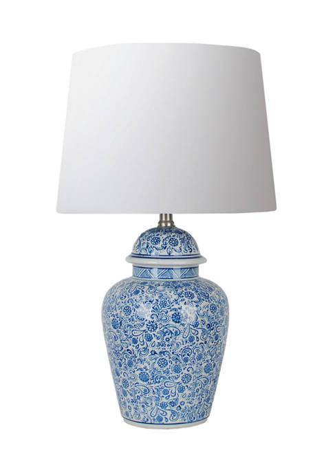 Jimco Blue White Ginger Jar Lamp