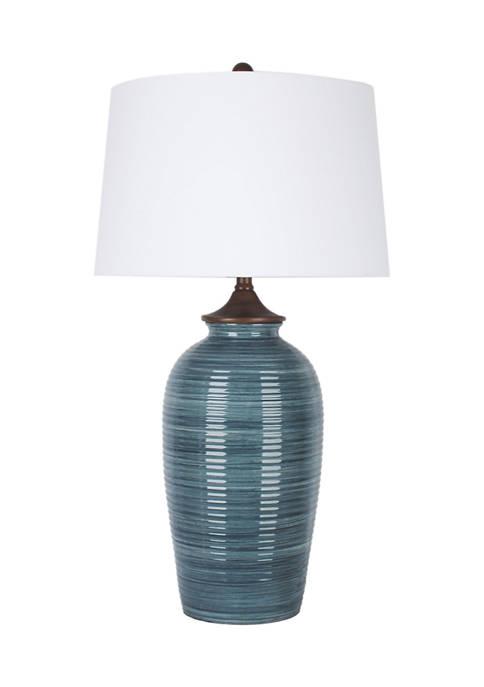 Jimco Multi Blue Vase Lamp
