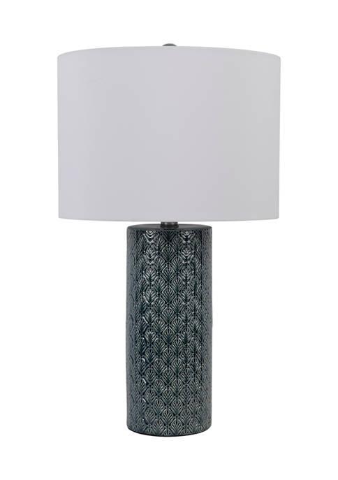 Blue Fan Column Lamp