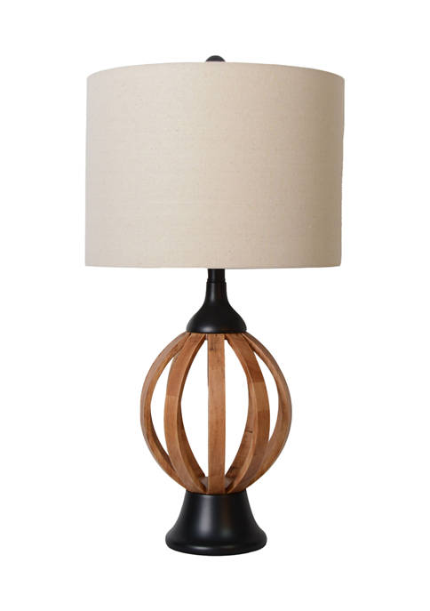 Small Wood Slat Lamp