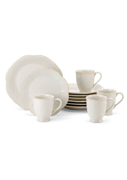 Lenox® French Perle 12-Piece Plate & Mug Dinnerware