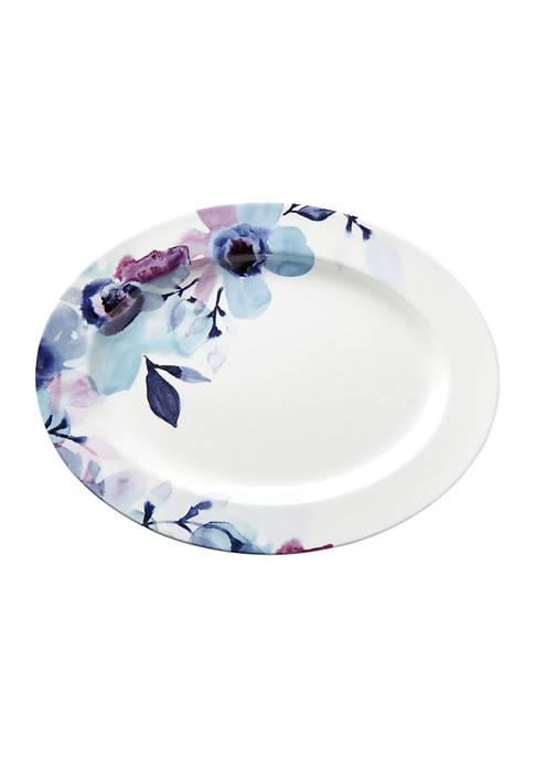 Lenox® Indigo Watercolor Floral 16 Inch Oval Serving
