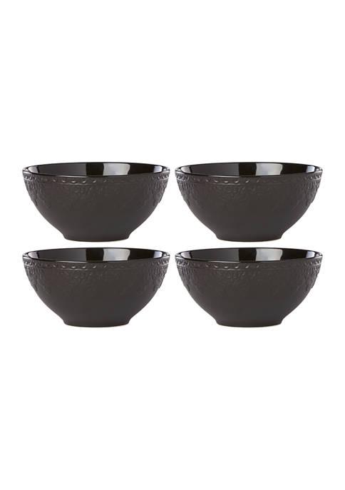 Lenox® Chelse Muse Fleur Matte Black 4-Piece All-Purpose