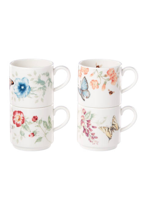 Butterfly Meadow Set of 4 Stacking Mugs