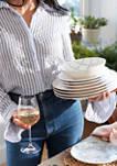 Tuscany Classics Set of 4 Rose Glasses