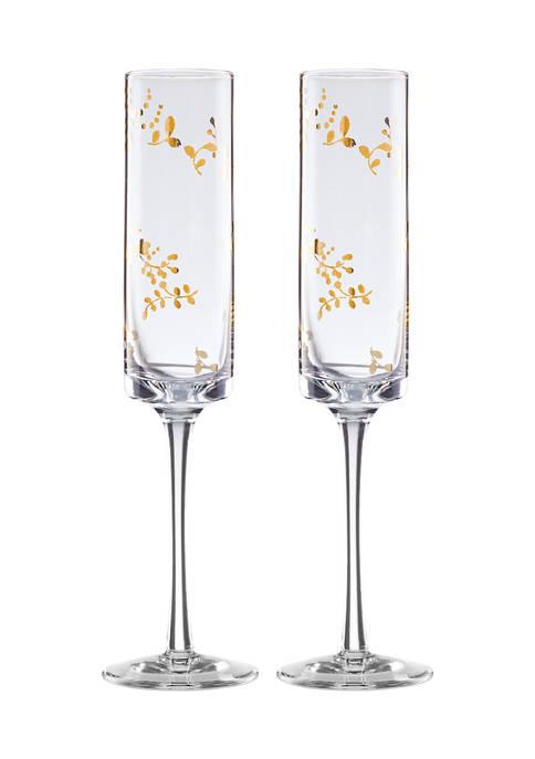 Lenox® Opal Innocence Flourish Toasting Flute Set of