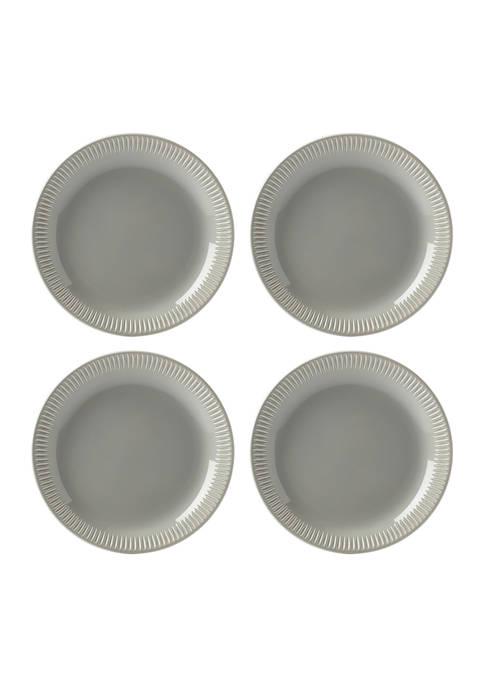 Lenox® Profile Gray Stoneware Set of 4 Accent