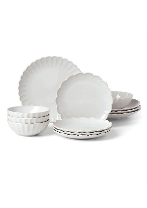Lenox® French Perle Scallop 12-Piece Dinnerware Set