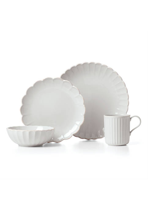Lenox® French Perle Scallop 4-Piece Place Setting