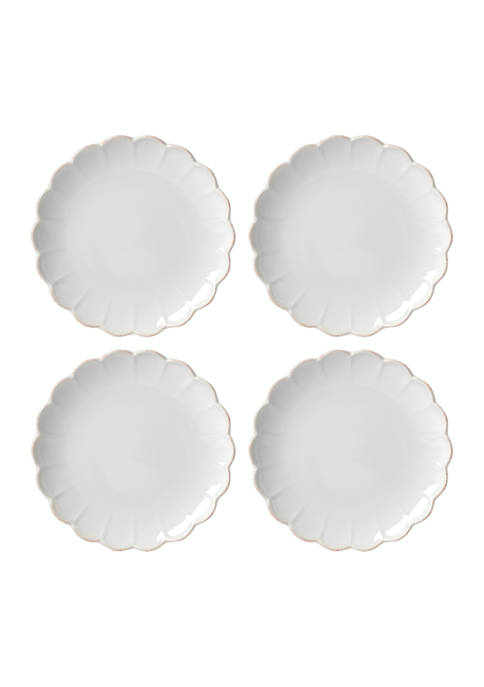 Lenox® French Perle Scallop Set of 4 Accent