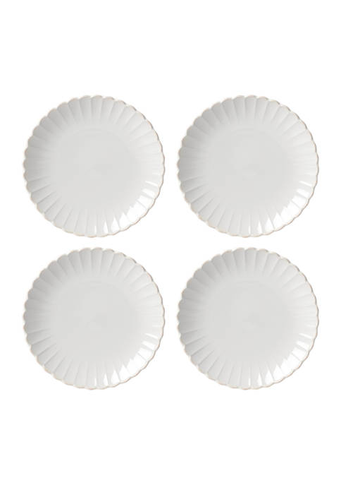 Lenox® French Perle Scallop Set of 4 Dinner