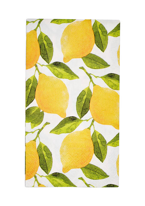 Set of 8 Lemons Disposable Dessert Plates