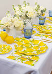 Set of 16 Lemons Guest Napkins