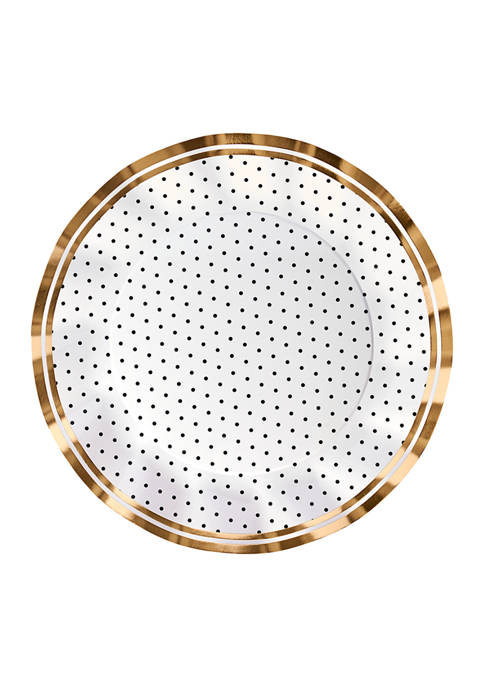 Set of 8 Disposable Paper Dinner Plates