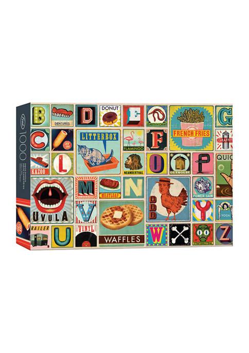 Genuine Fred 1000 Piece XYZ Blocks Puzzle