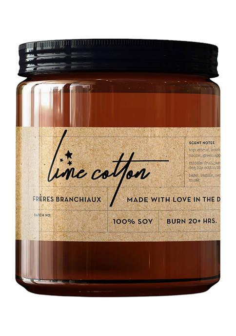 Frères Branchiaux Lime Cotton Candle