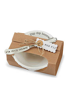 Mud Pie® Circa 2-Piece 'Dip Dip Hooray' Dip Bowl and Spreader Set