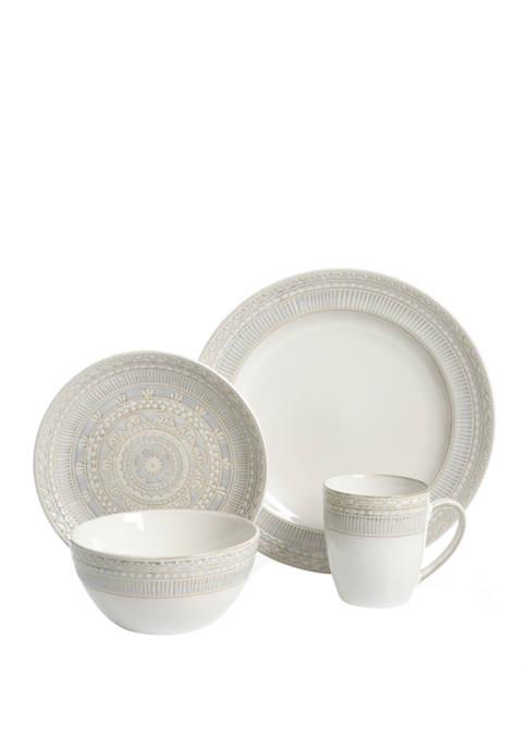 Gibson Amberdale 16 Piece Dinnerware Set