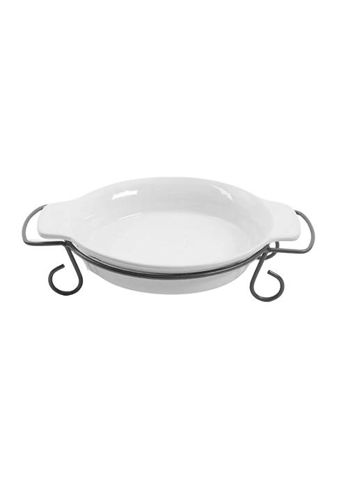 Gibson Gracious Dining 11 Inch White Pie Dish