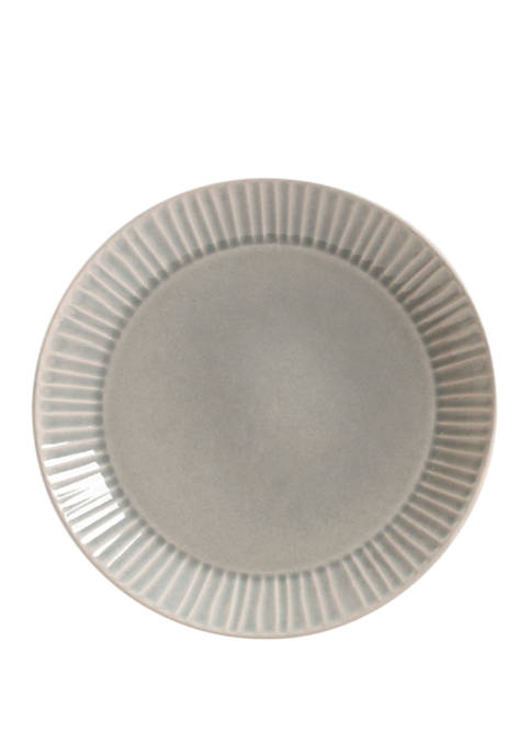 Reactive Glaze Gray Dinner Plate