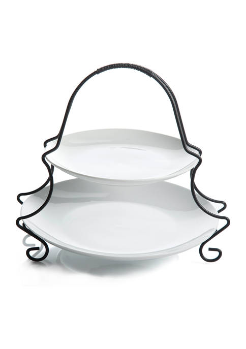 Gibson Gracious Dining 2 Tier Server with Metal