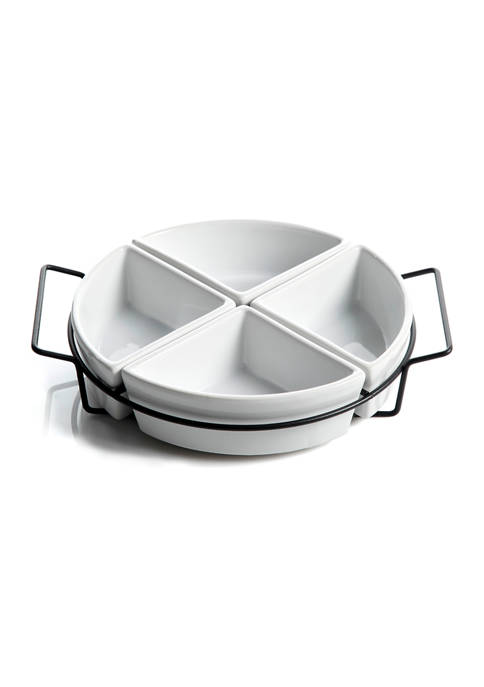 Gibson Gracious Dining 4 Section Tidbit Dish with