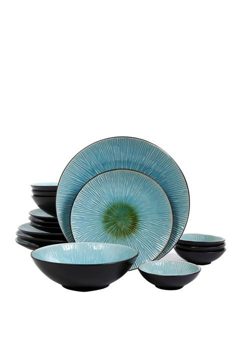 Shangri-La 16 Piece Double Bowl Dinnerware Set
