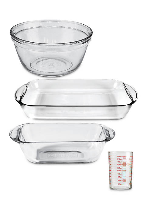 Anchor Hocking 4-Piece Essentials Glass Bakeware Set