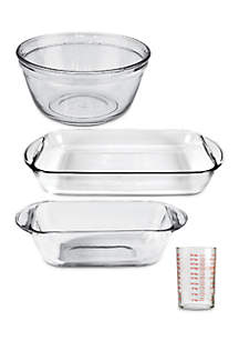 4-Piece Essentials Glass Bakeware Set