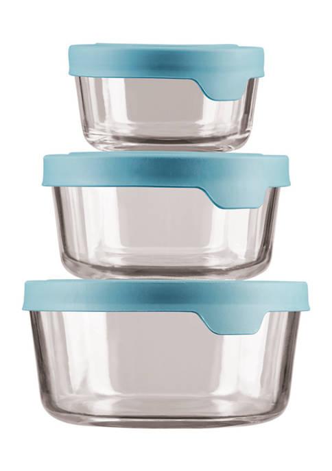 Anchor Hocking TrueSeal® Round Glass Food Storage Set