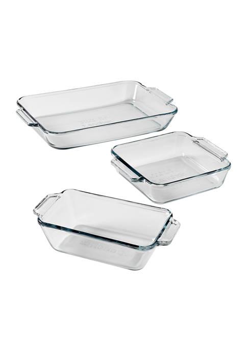 Anchor Hocking: Preferred Glass Bakeware 3 Piece Set! .00 (REG .00) at Belk!
