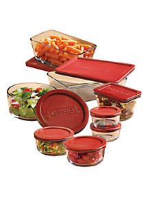 16 pc Storage Set with Red Lids
