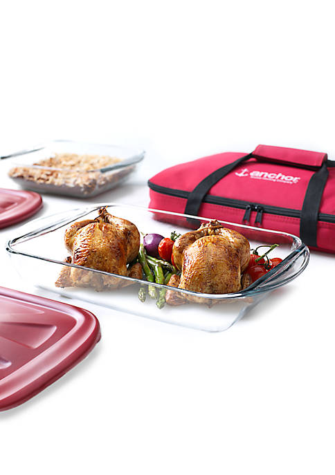 Anchor Hocking 5-Piece Bake N Take Set