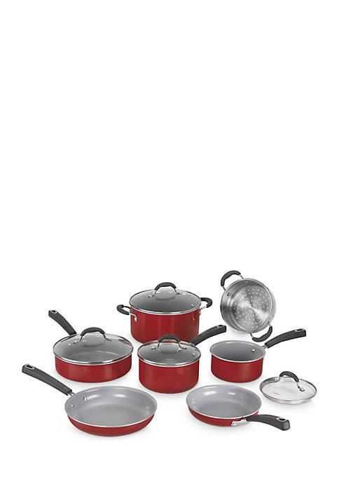 Cuisinart Advantage Ceramica 11-Piece Set- Red