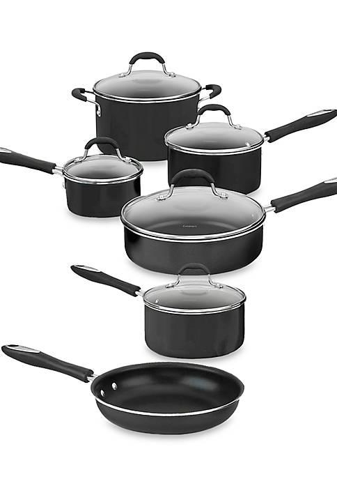 Cuisinart Advantage Nonstick Aluminum 11-Piece Black Cookware Set