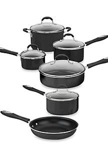 Advantage Nonstick Aluminum 11-Piece Black Cookware Set 5511BK