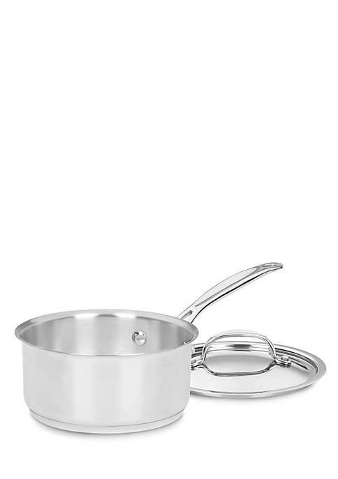 Cuisinart Chefs Classic Stainless 1-qt. Saucepan with Cover