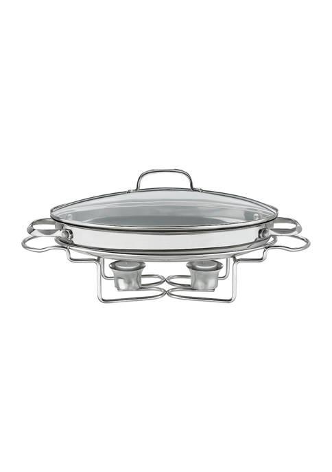 "Cuisinart 13.5"" Oval Stainless Steel Buffet Server"