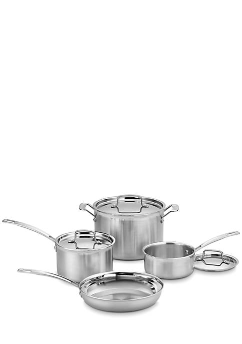 Cuisinart MultiClad Pro Stainless Steel 7-Piece Cookware Set