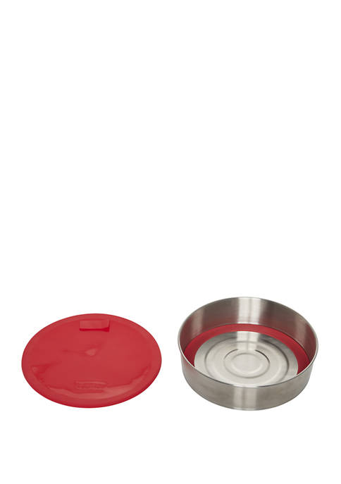 Official Round Cake Pan with Lid, Removable Base and Divider